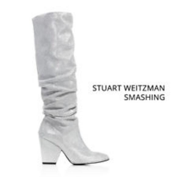 Stuart Weitzman Smashing Silver Slouch